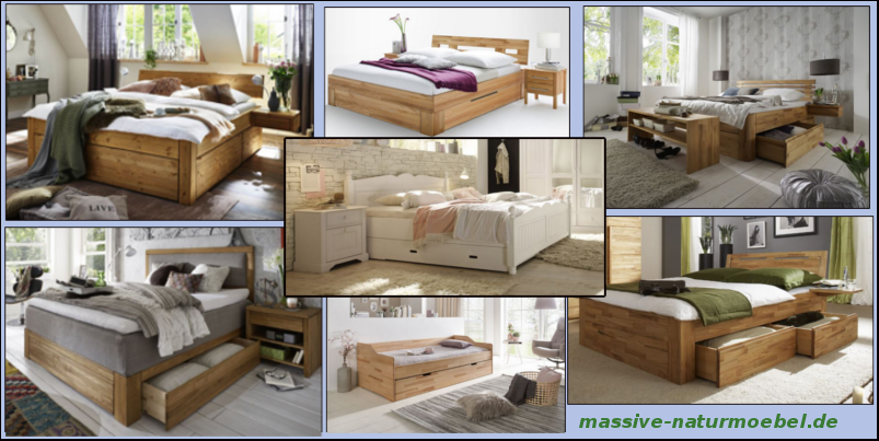 Schubkastenbett – ideal für kleine Räume