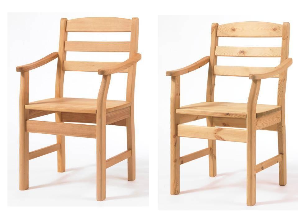 2 Stühle Mit Armlehnen Kiefer Buche Erle Oder Wildeiche Massiv Torben