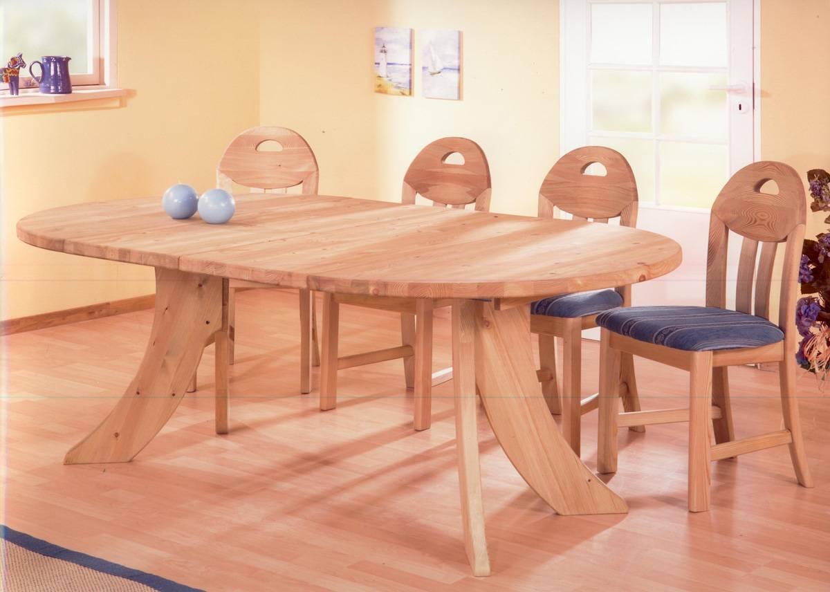 Tischplatte Kiefernholz Natur Rund 28 mm 90 cm