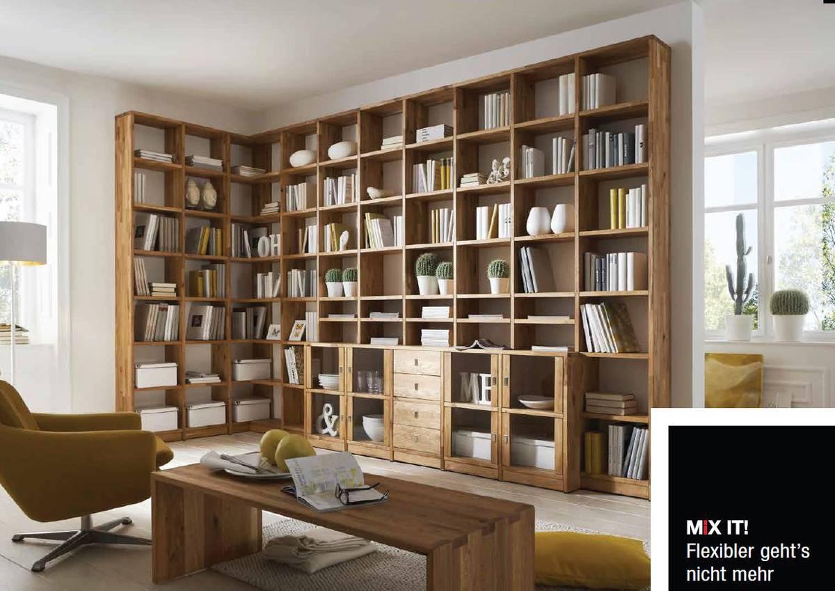 Mixit Wohnwand 9 Mit Ecklosung Kernbuche Oder Wildeiche Ein Programm Zum Selberplanen Mit Unendlich Vielen Moglichkeiten