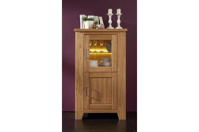 Highboard Wildeicheiche massiv, Modell Loft 40/41