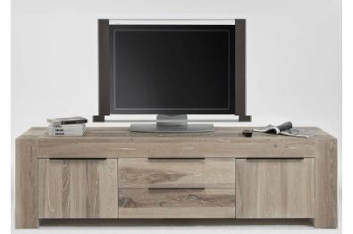 TV - Kommode aus massiver BALKENEICHE, Modell BIG 26