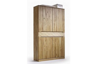 Highboard - Vitrine Arkona, Kernbuche oder Wildeiche massiv