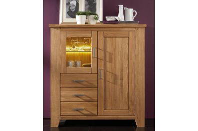 Highboard Wildeiche massiv, Modell LOFT 42