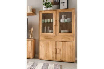 Highboard Wildeiche massiv in vielen Variationen lieferbar