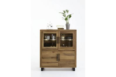 Highboard Eiche massiv - 140 cm hoch -  Modell Nature von Bodahl