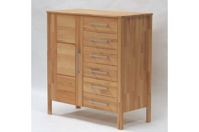 Kommode - Highboard OLE Wildeiche massiv