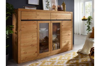 Highboard Arnie aus massiver Kiefer, 150 cm hoch