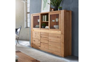 Highboard Wildeiche massiv