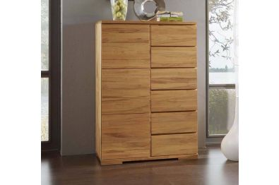 Kommode Highboard Basti - Wildeiche oder Buche  Kernbuche massiv, B 5