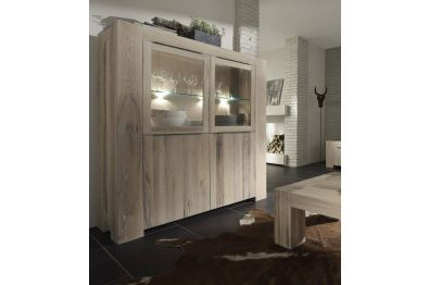 Highboard  aus massiver BALKENEICHE, Modell BIG