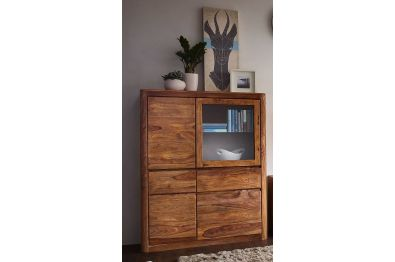 Highboard - Kommode Orlando Sheesham gebeitz