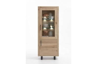 Vitrine, Highboard Eiche massiv