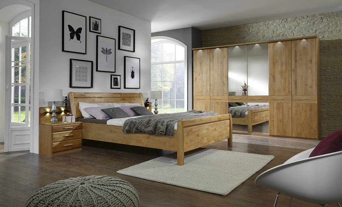 Schlafzimmer Erle oder Eiche - Komplettzimmer - Toledo 12